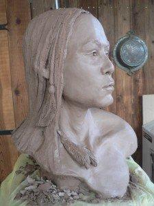 chaman amèrindien dans Sculpture Argile modelage P1150029-225x300