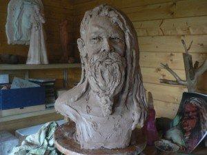 yogi hindou dans Sculpture Argile modelage p1150629-300x225